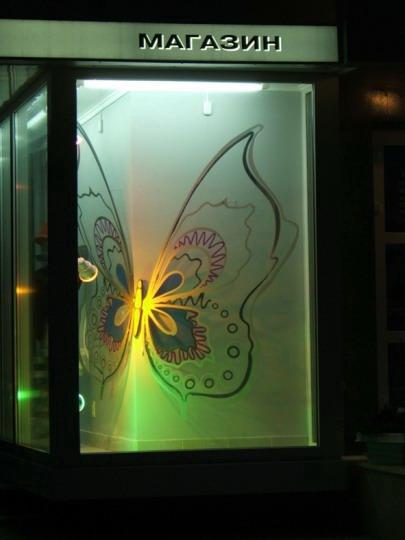 Бабочка. Объемный элемент в витрине